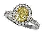 Finejewelers Natural Fancy Yellow Engagement Ring Style number: 4995