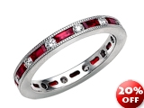 Karina B™ Genuine Ruby Eternity Band style: 8233R