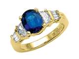 Genuine Sapphire Engagement Ring style: 4803S
