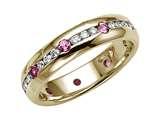 Karina B™ Genuine Pink Sapphire Eternity Band style: 8010P