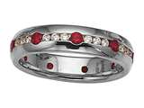 Karina B™ Genuine Ruby Eternity Band style: 8010R