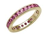 Karina B™ Pink Sapphire Eternity Band With Millgrain style: 8016P