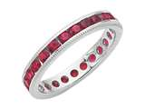Karina B™ Genuine Ruby Eternity Band style: 8016R