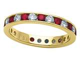 Karina B™ Genuine Ruby Eternity Band style: 8017R