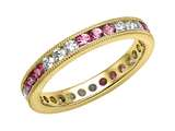 Karina B™ Genuine Pink Sapphire Eternity Band With Millgrain style: 8019P
