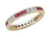 Karina B™ Genuine Ruby Eternity Band style: 8019R
