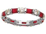 Karina B™ Genuine Ruby Eternity Band style: 8030R