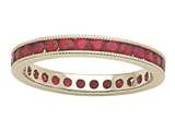 Karina B™ Genuine Ruby Eternity Band style: 8042R