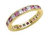 Karina B™ Genuine Pink Sapphire Eternity Band style: 8043DP
