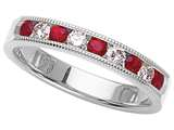 Karina B™ Genuine Ruby Band style: 8074R