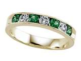 Karina B™ Diamond and Tsavorite Band With Milgrain style: 8075T