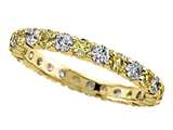 Karina B™ Diamond and Yellow Sapphire Eternity Band style: 8091Y