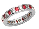 Karina B™ Genuine Ruby Eternity Band style: 8105R