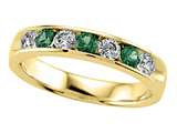 Karina B™ Round Diamond and Tsavorite Band style: 8109T
