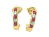 Karina B™ Ruby Earrings style: 8142R
