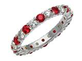 Karina B™ Genuine Ruby Eternity Band style: 8173RD
