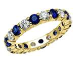 Karina B™ Genuine Sapphire Eternity Band style: 8236SD
